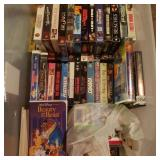 Large Tote of VHS Tapes