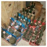 Lot of Vintage Glass Soda Bottles