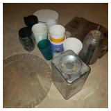 Lot of Kitchen Items and Cups
