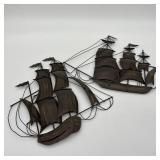 Metal Ship Art Wall Hangings