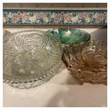 4 Vintage Glass Serving Bowls