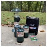 Coleman NASCAR Lantern, NASCAR Case, 3 Bottles