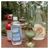 Oil Lamps w/Oil & Fire Extinguisher