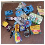 Vintage Yu-Gi-Oh Card w/Vintage Toy Lot