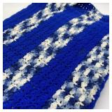 Afghan Blue & White, 52 x 78