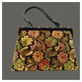 Vintage Dova Wool Tapestry Carpet Handbag Purse