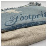 2 Blankets Ralph Lauren Twin & Footprints 48 x 60