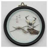 Oriental Framed Cranes Picture