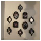 Framed Miniature Prints Frames Marked Italy