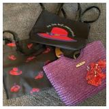 3 Red Hat Purses
