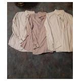 Three Vintage Trevero Mens Dress Shirts