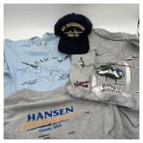 Vintage Hanson Helicopter & RAM 90 Shirt w/USS