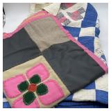 2 Vintage Quilts, 1 Cotton & 1 Polyester