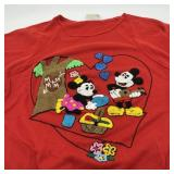 Vintage Latch Hook Mickey & Minnie Mouse T-Shirt,