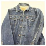 Vintage Levi Jacket Red Tag, Missing Button on