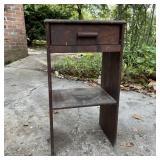 Wood Cabinet w/Drawer Needs Refinish
