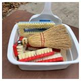 Cleaning Brushes, Dust Pan, Dish Pan