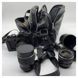 Vintage Chinon Camera w/Bag