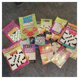 Crossword Puzzle Books in Basket
