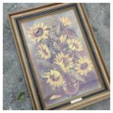 Vintage Sunflower Print Home Interiors