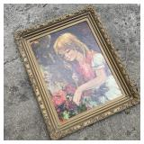 Vintage Print of Young Girl
