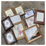 Framed Embroidery, Appliqué , & Prints