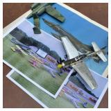 Airplane Photos, Clock w/Models in Need of Repair
