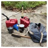 2 Gas Cans 1 Gallon, Jumper Cables, Funnels,