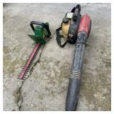 Homelite Blower BVM160 & Electric Hedge Trimmers