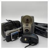 4 Vintage Cameras Brownie Flash 20, Instamatic