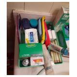Bathroom Lot in Plastic Box w/ Turntable