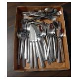 Flat of National Stainless Silverware