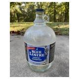 Vintage Glass Gallon Jar Blue Lustre Carpet