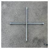 Four Way Tire Iron (All Silver)