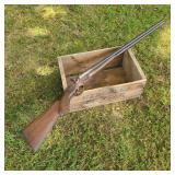 Decorative W H Hamilton Double Barrel Shotgun