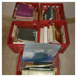 Red Crates of Books w/ Bible
