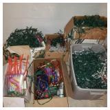 Large Lot of Holiday Decor & Christmas Lights