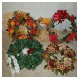 Lot of Holiday Wreaths