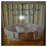 Ceramic Chip & Dip Set