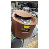 """IGNIS OUTDOOR FIRE PIT 24RDx17""""H NGorP with cover"""
