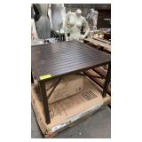 """3x BROWN OUTDOOR TABLE 42x42"""""""