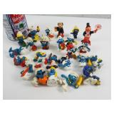Figurines de collection dont les  Schtroumps