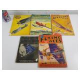 "5 magazines ""avioation"" dont Model AIRPLANE News"