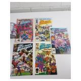 5 comics années 1980 West Cost Avengers 2-4-11