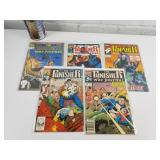 5 comics années 1980 The Punisher 22-24-25-28-32