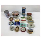 Collection de petite boites métallique vintage