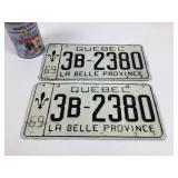 2 plaques minérologiques La Belle Province 69