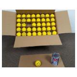 "+-200 balles anti-stress ""Smiley face"" Chine NEUF"
