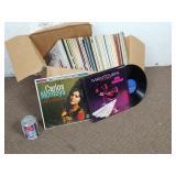 Boite de vinyles 33 tours/LP dont Mantovani