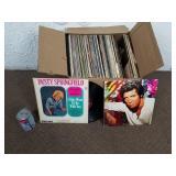 Boite de vinyles 33 tours/LP dont Dusty Springfiel